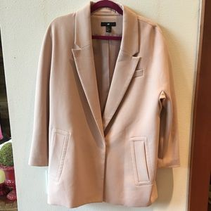 H&M Oversized Light Pink Blazer/Coat